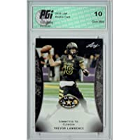 $39 » Trevor Lawrence 2018 Leaf Army #55 Clemson His 1st Ever Rookie Card PGI 10