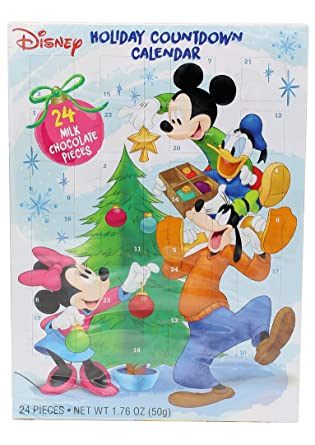 Mickey Mouse And Friends Chocolate Advent Calendar With 24 Milk