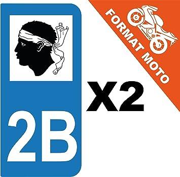 SAFIRMES 2 Stickers Autocollant Style Plaque Immatriculation d/épartement 67