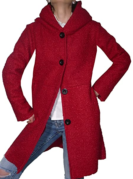 cheap for discount d5a7a bd7b6 Fantasy Cappotto Cappottino Lana Cotta Buclè Cappuccio ...