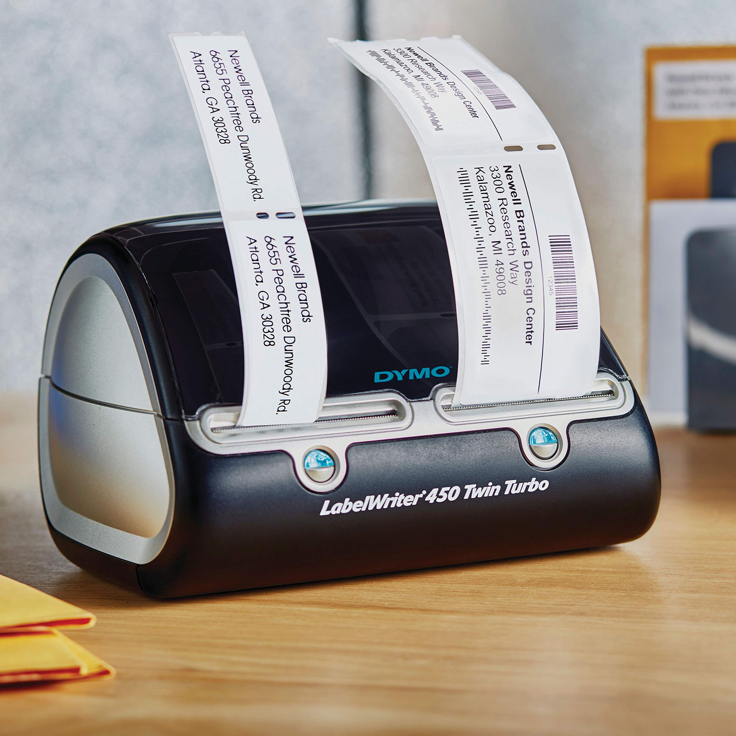 DYMO Label Writer 450 Twin Turbo Label Printer, 71 Labels