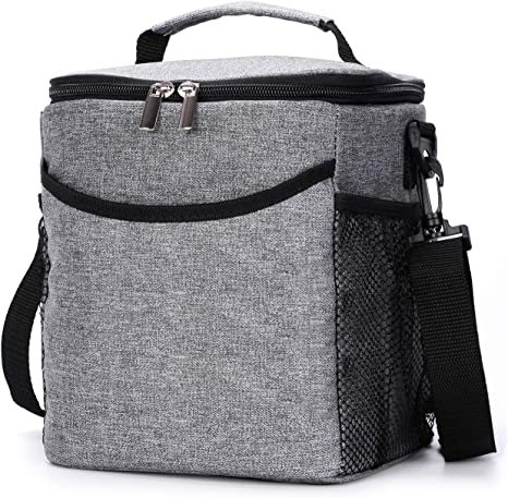 Insulated Thermal Cool Lunch Bag Adult Lunch Box for Work School Men Women