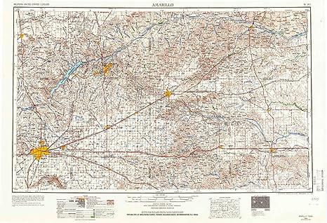 Map Of Texas Amarillo.Amazon Com Yellowmaps Amarillo Tx Topo Map 1 250000 Scale 1 X 2