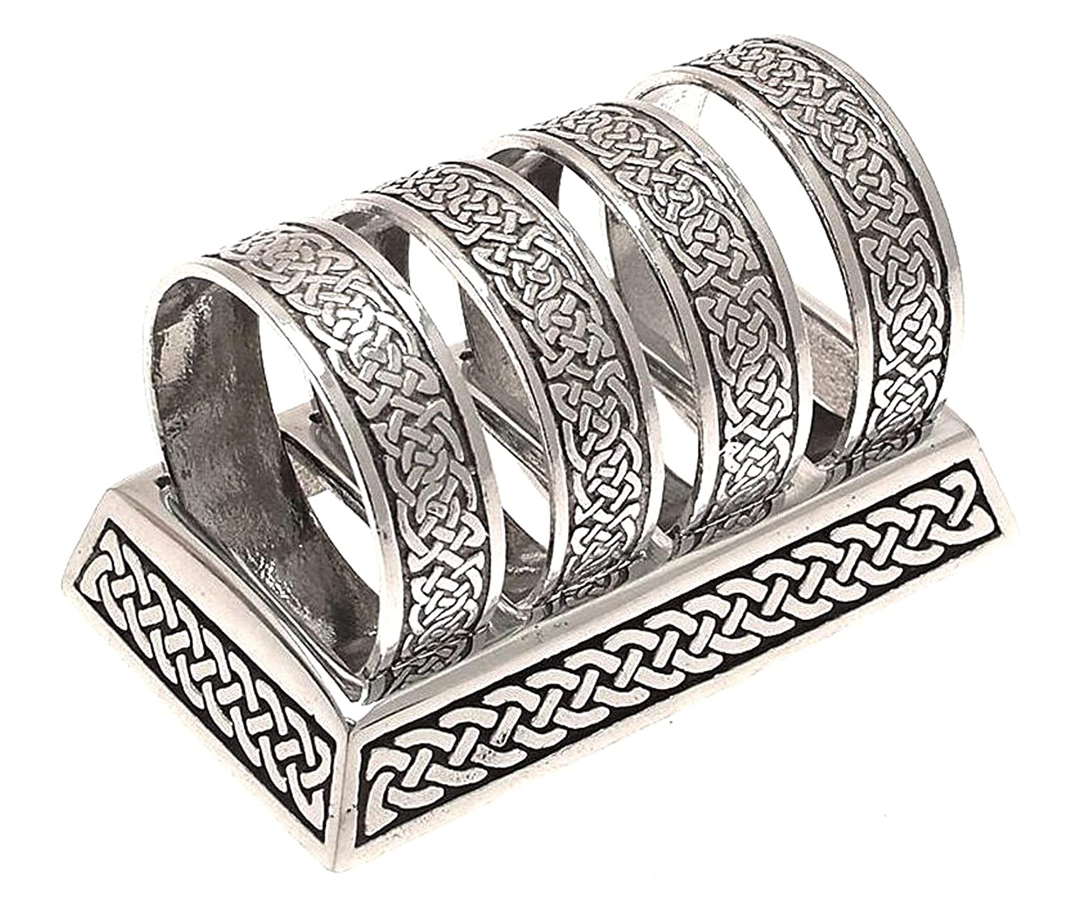 solid napkin knot serviette rings knotwork celtic cat pewter shop pink