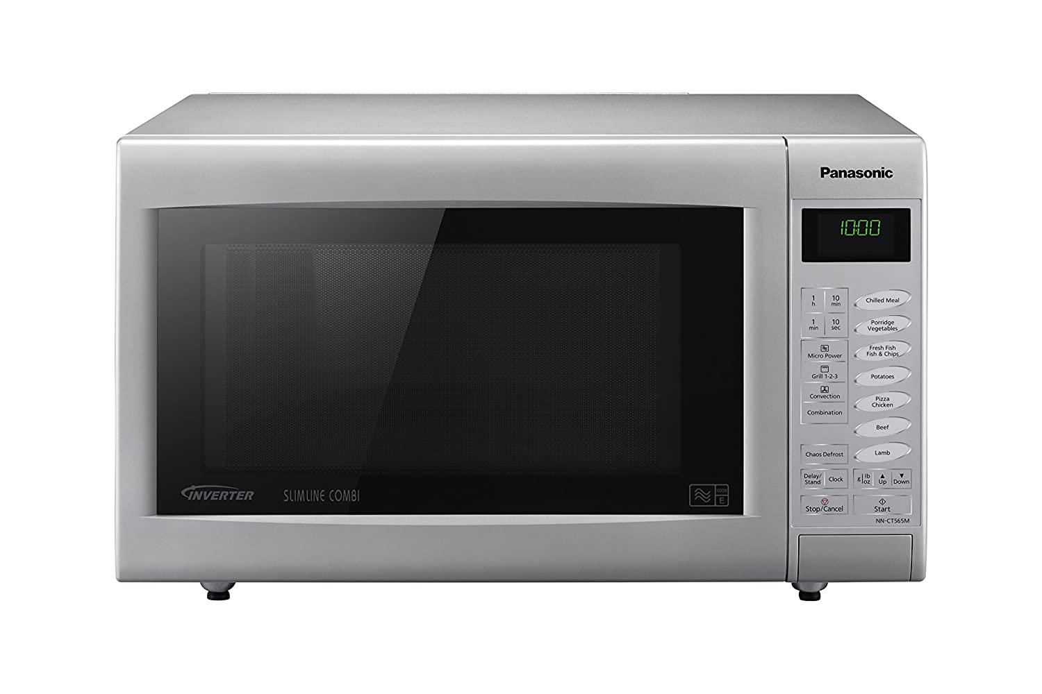 Panasonic NN-CT565MBPQ Slimline Combination Microwave, 27 L - Silver ...