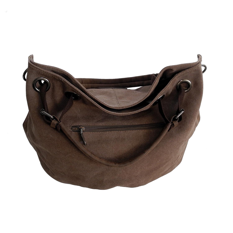 Lässige Canvas Tasche von Bag Street , Damentasche Shopper Umhängetasche  Vintage Handtasche Schultertasche - Baumwollstoff Segelstoff d34c4e6563