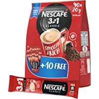 Nescafe 3in1 Coffee Mix 20g Sachet, 40 Pieces