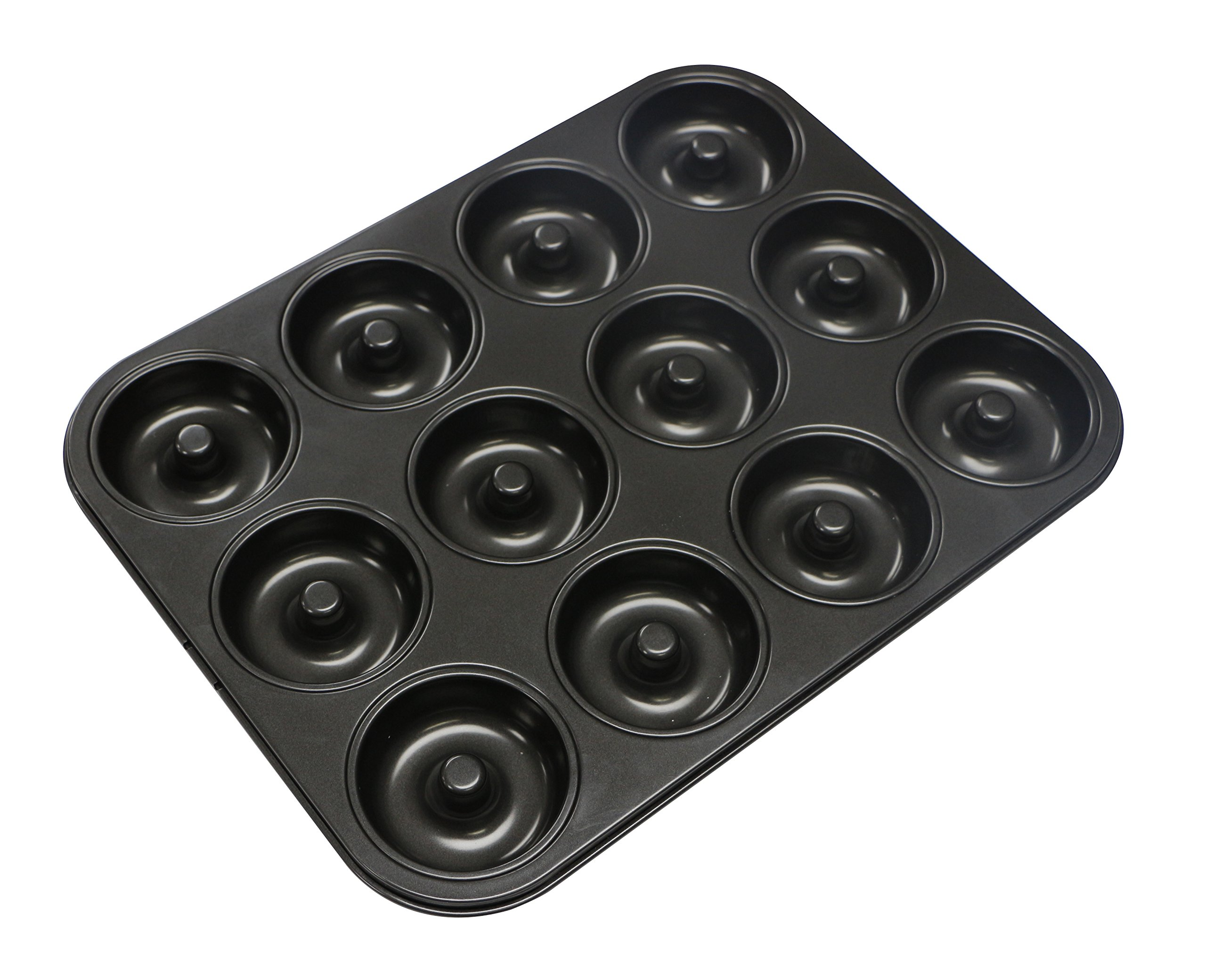Webake Extra Thick Donut Pan 12-cavity 2.8'' Non-stick Medium Size (Donut pan)
