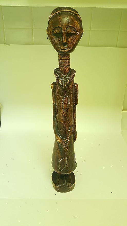 Amazoncom African Ghana Woman Girl 185 Wooden Hand Made