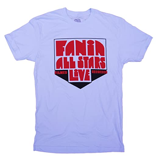 Fania Mens All Stars Logo T-Shirt 2XL Light Blue