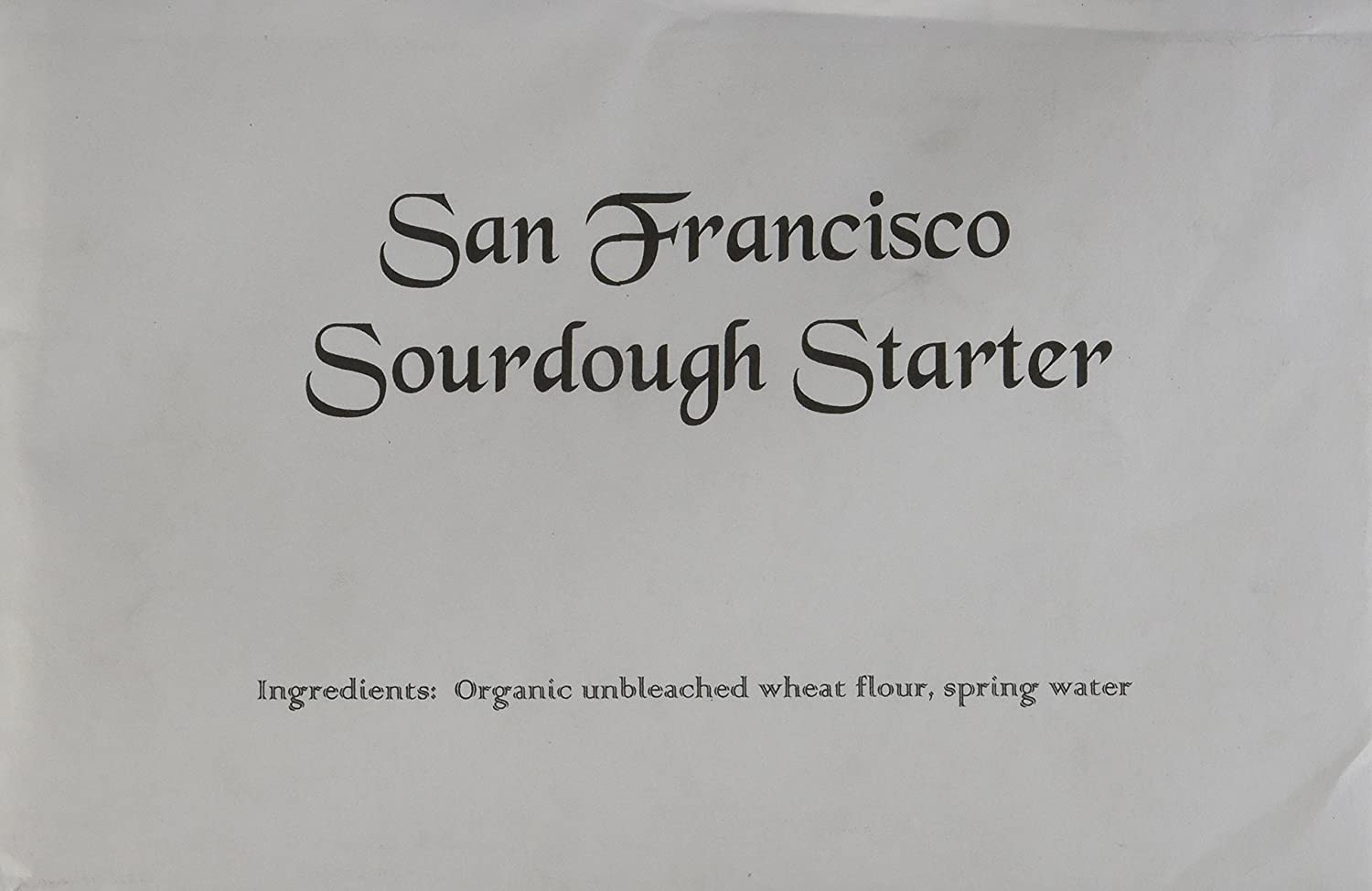 Organic Sourdough Starter The Real One from San Francisco with a Free  Plastic Dough