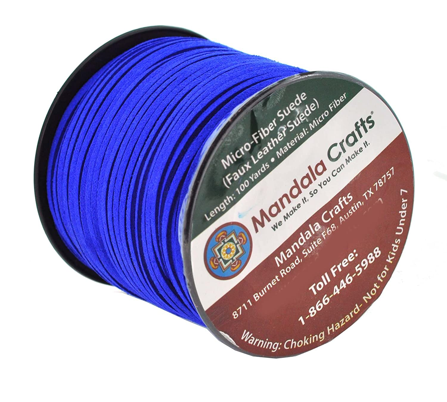 Mandala Crafts 100 Yards 2.65mm Wide Jewelry Making Flat Micro Fiber Lace Faux Suede Leather Cord Ice Gray