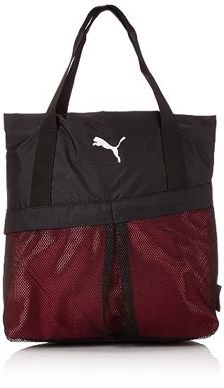 a6c143d1ab49 Puma Fitness Women s Gym Shopper Bag Black Black-Cerise-Pool Green Size