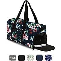 Ela Mo's Elegante Sporttasche Reisetasche mit Schuhfach   38 Liter Handgepäck Weekender   für Frauen und Männer   in 6 trendigen Designs