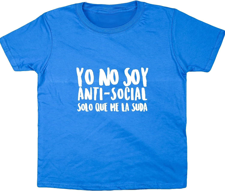 Hippowarehouse Yo no soy Anti-Social Solo Que me la Suda Camiseta Manga Corta niños niñas Unisex: Amazon.es: Ropa y accesorios