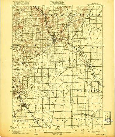 Amazon Com Yellowmaps Rochester Mi Topo Map 1 62500 Scale 15 X