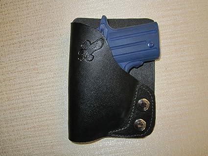 C Custom Fit Leather-Trimmed Poly Pocket Holster Fits Sig Sauer P938