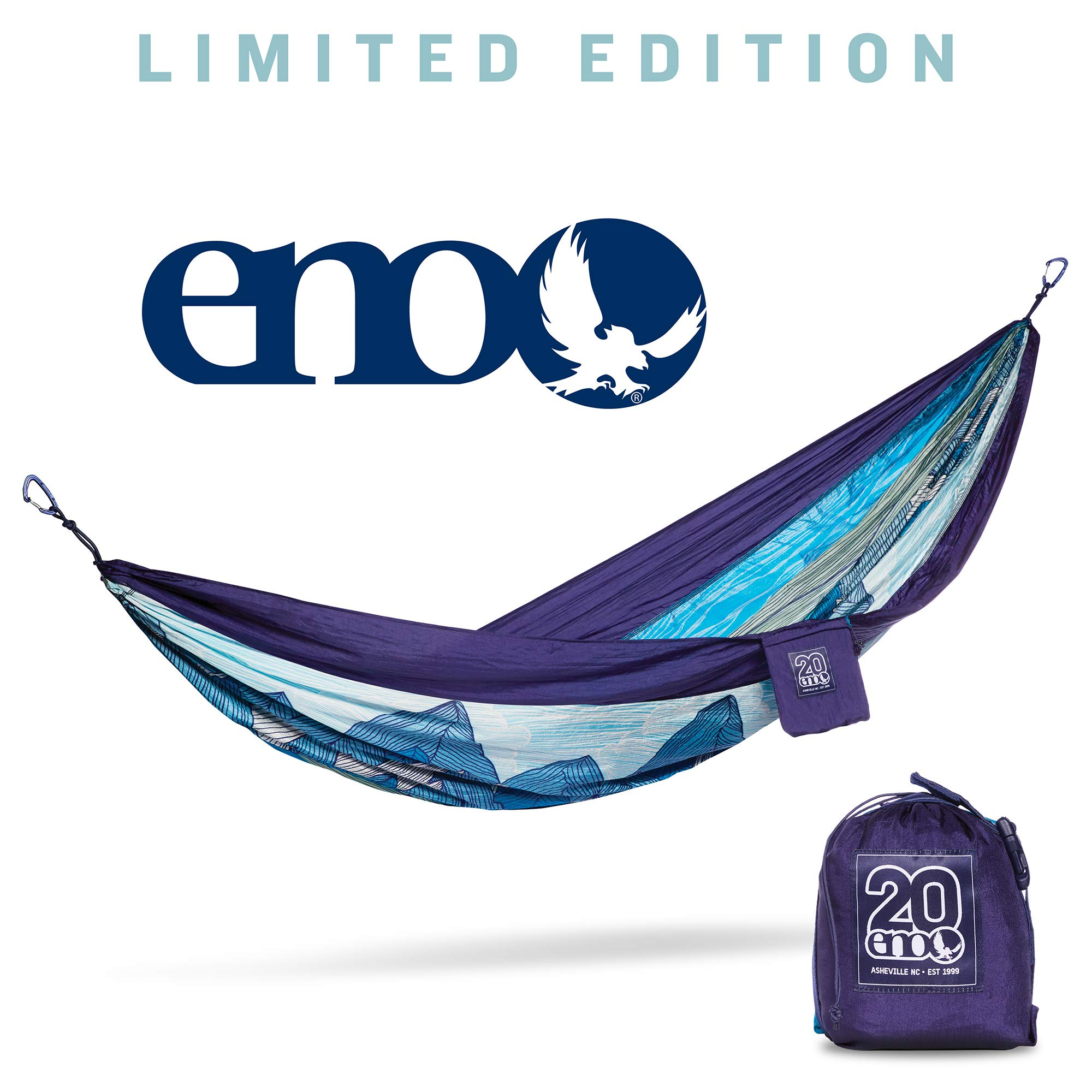 ENO - Eagles Nest Outfitters DoubleNest Print Portable Hammock for Two, Mountains-to-Sea (20th Anniversary) by ENO