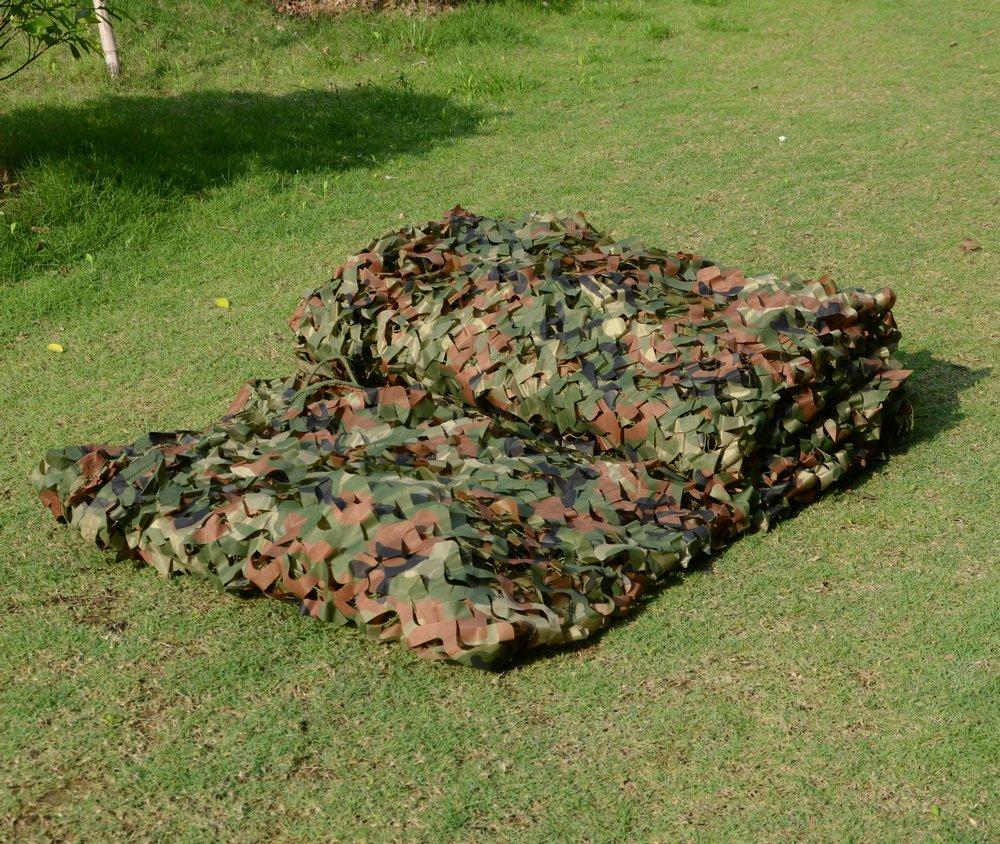 2x 3m militare mimetico net boschi foglie camo copertura per campeggio, caccia MBLUE