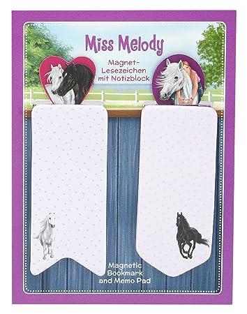 Depesche 3902 - Magnetlesezeichen mit Notizblock Miss Melody, sortiert