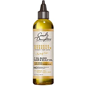 7 Oil Blend Scalp Oil | Hair Oil with Castor Oil and Black Seed Oil | for Weak, Breakage Prone Hair | Goddess Strength by Carols Daughter | 4 Fluid Ounces