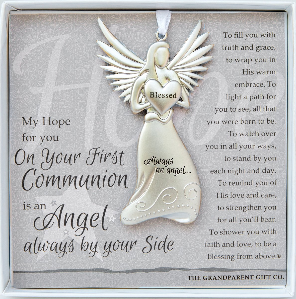 The Grandparent Gift Co. Boxed Angel with Sentiment: First Communion Gift 4529-2