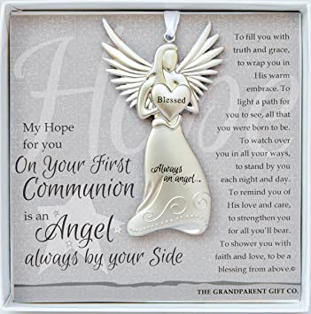 Amazon.com : The Grandparent Gift Co. Boxed Angel with Sentiment: First Communion Gift : Baby