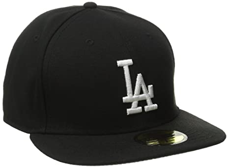 Amazon.com   New Era MLB Los Angeles Dodgers Black with White ... fbf9f0ff7635