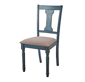 Powell's Furniture 16D8214SCX Willow, Teal Blue, Set of 2 Side Chair,