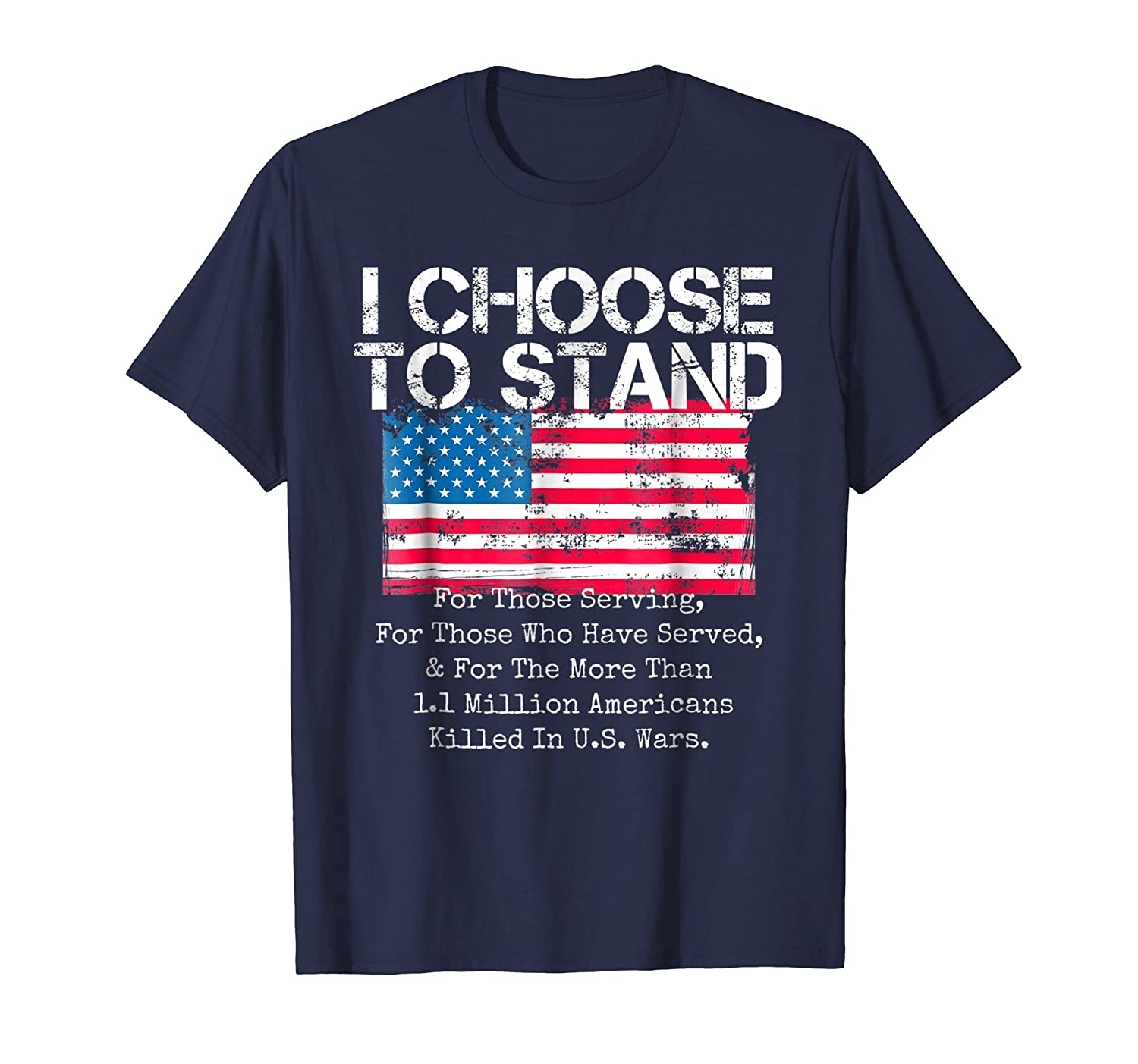 American Flag Shirt I Choose to Stand National Anthem Tee-ln