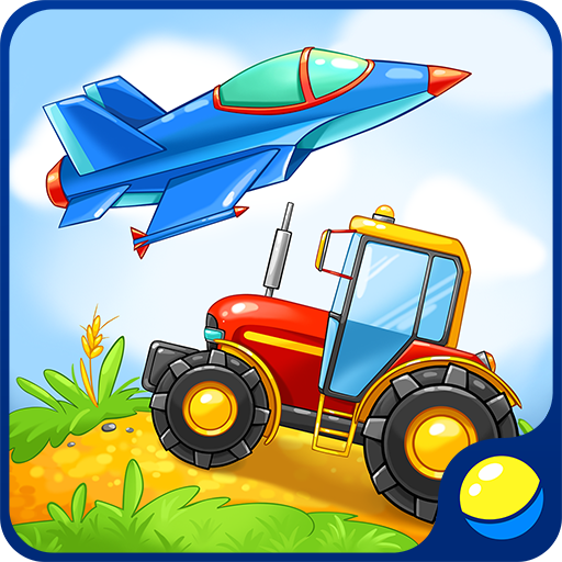 Add Crane (Learning vehicles for toddlers - interactive kids educational game to learn military equipment, rescue, farming, construction transport, and listen to sounds of transportation: tractor, fire engine, tank, bomber, crane machine, ambulance, excavator)
