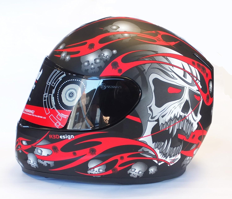 Viper RS-44 Skull Motorcycle Helmet