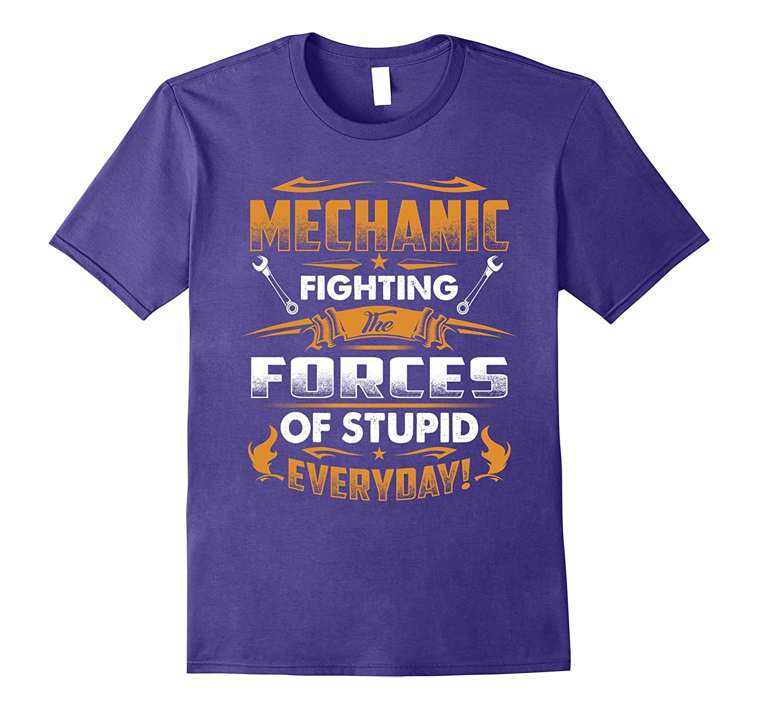 Mechanic Fighting Forces Of Stupid T-Shirt-Art