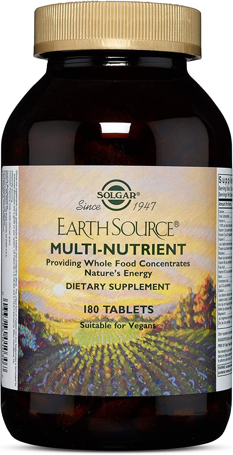 Solgar – Earth Source Multi-Nutrient Tablets Providing Whole Food Concentrates, 180 Tablets
