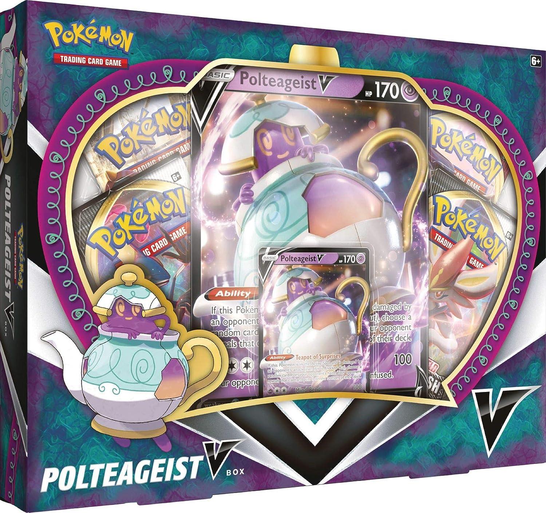 Pokemon TCG: Polteageist V Collection Box: Amazon.es: Juguetes y juegos