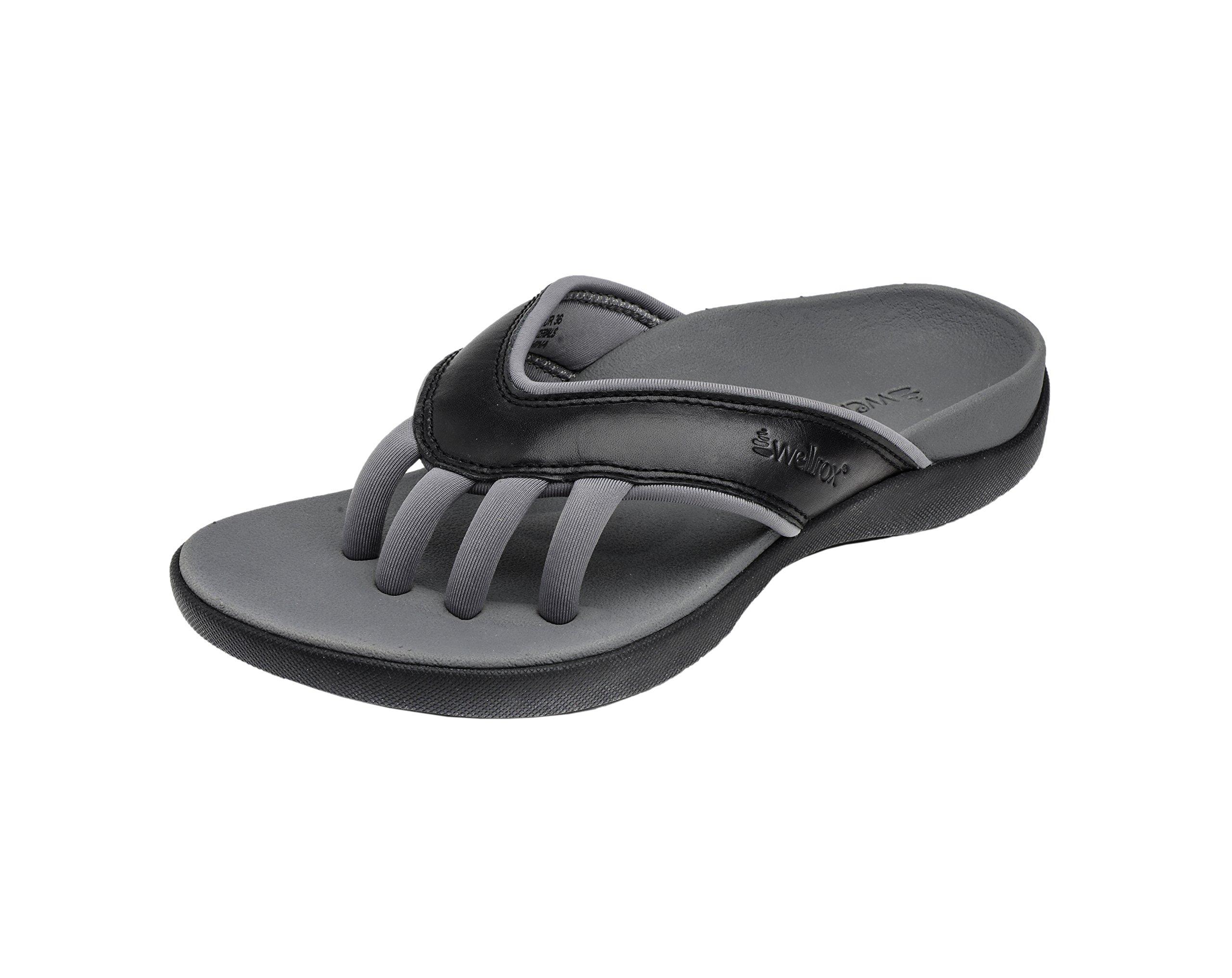 Wellrox Women's Evo-Cloud Black Casual Sandal 11
