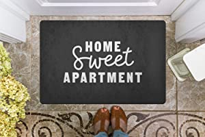 Shengqinfeng Welcome Mat Gift Home Sweet Apartment Funny Doormat New Home Porch Decor Sassy Doormat Apartment Decor Cute 15.7 x 23.6 Inch