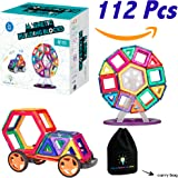 Magnetic Building Blocks for Kids   Educational Toys for Boys and Girls   Magnets Construction Tiles for Children   Build Any Model with these Genius Magnet Kits   112 Pcs Set