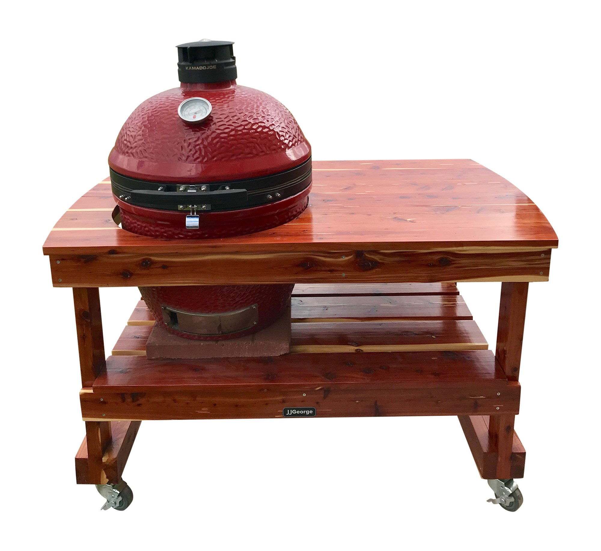 JJGeorge Grill Table for Classic Kamado Joe II - Free Table Cover Included by JJGeorge