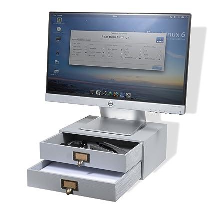 wallniture oficina en casa de madera organizador de escritorio con ...