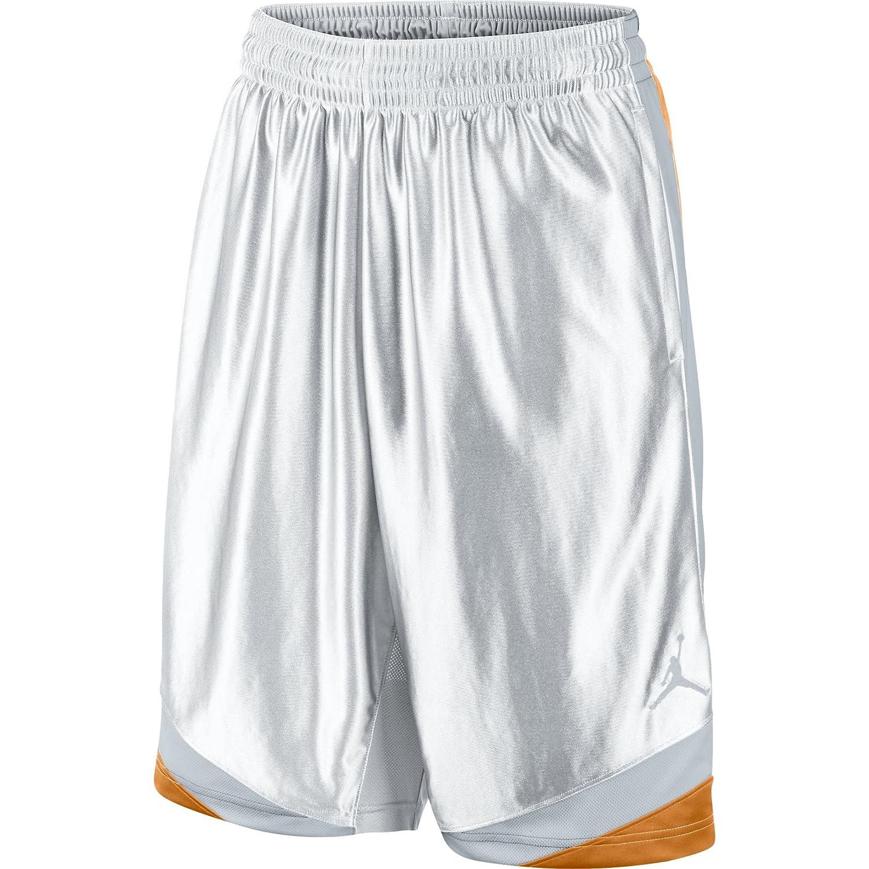 Jordan Court Visionメンズバスケットボールショーツホワイト/Kumquat /ウルフグレー576638 – 105 B00VF5QNWI  Medium