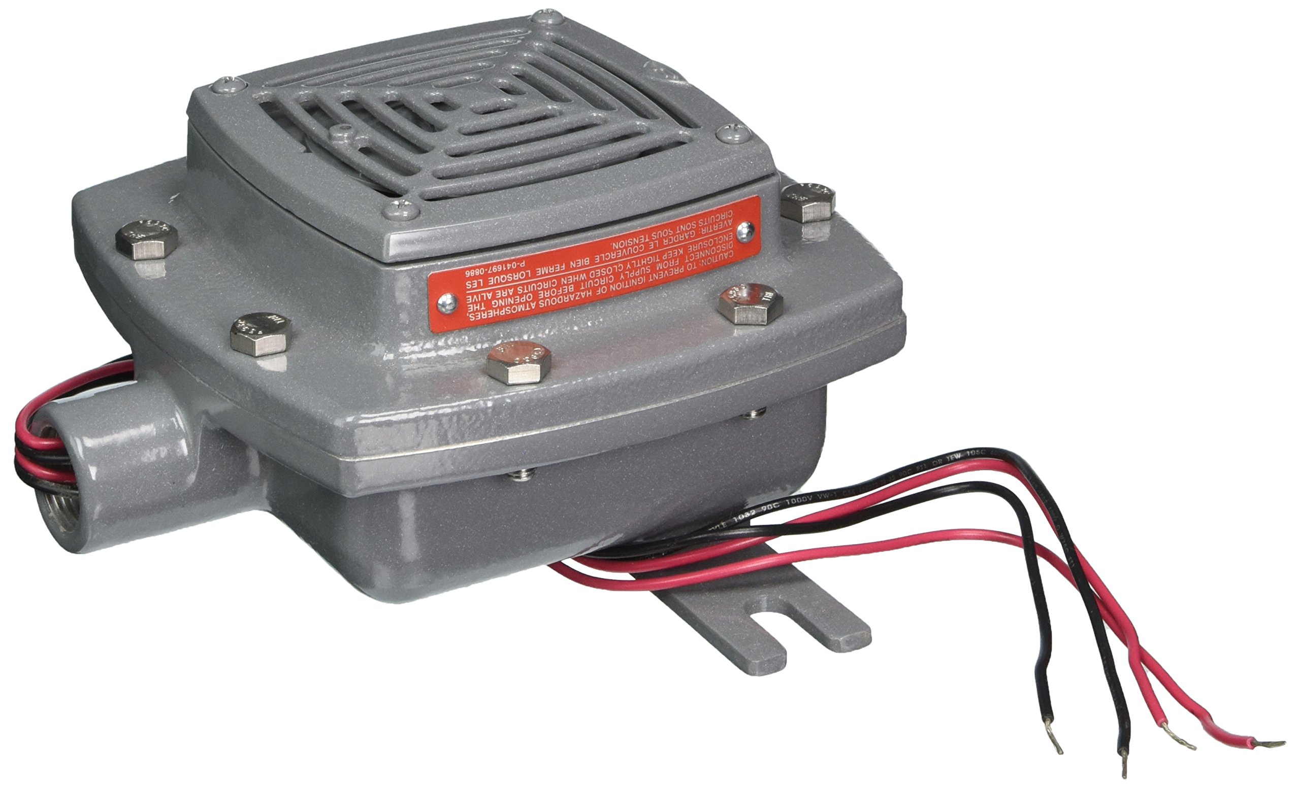 Edwards Signaling 879DEX-G1 Diode Polarized Vibrating Horn, 107/97 db, 24V DC, Gray