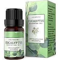 ASAKUKI Eucalyptus Essential Oil 10ml, 100% Pure Natural Essential Oils, Organic Aroma Essential Oil, Scented Oils for…