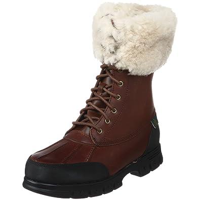 b81ed734e9 Lauren Ralph Lauren Women's Quinta Shearling Winter Boot,Brandy,5.5 ...