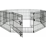 Petmate 55013 36 Inch By 24 Inch 8 Panels Exercise Pen With Step Through