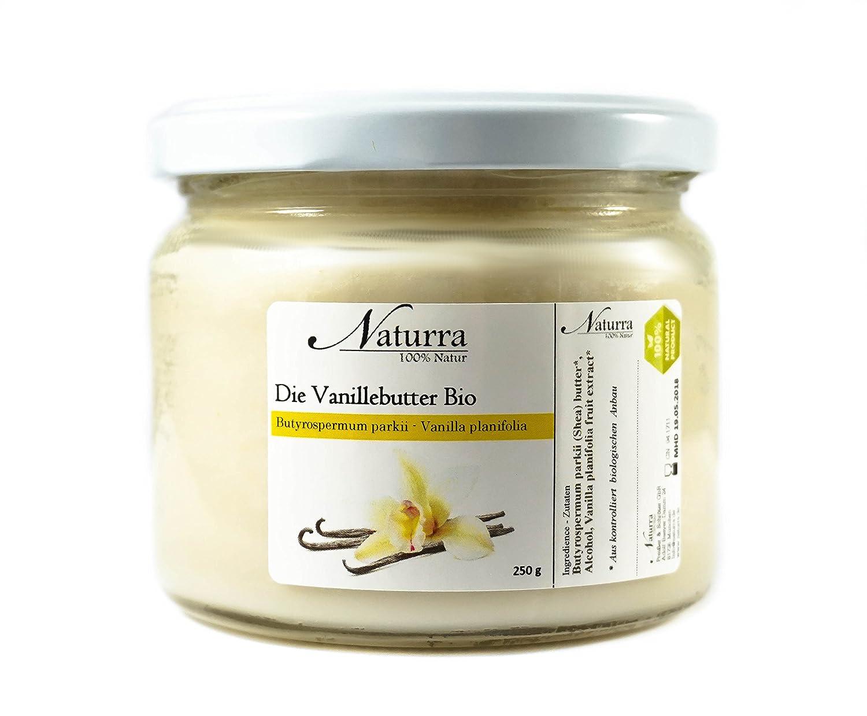 Naturra Bio Vanillebutter Sheabutter + Vanille Extrakt 100g Glas Tiegel