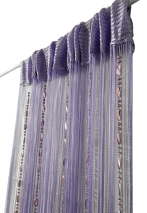 Decorative String Curtain Beads Wall Panel Fringe Room Door Window