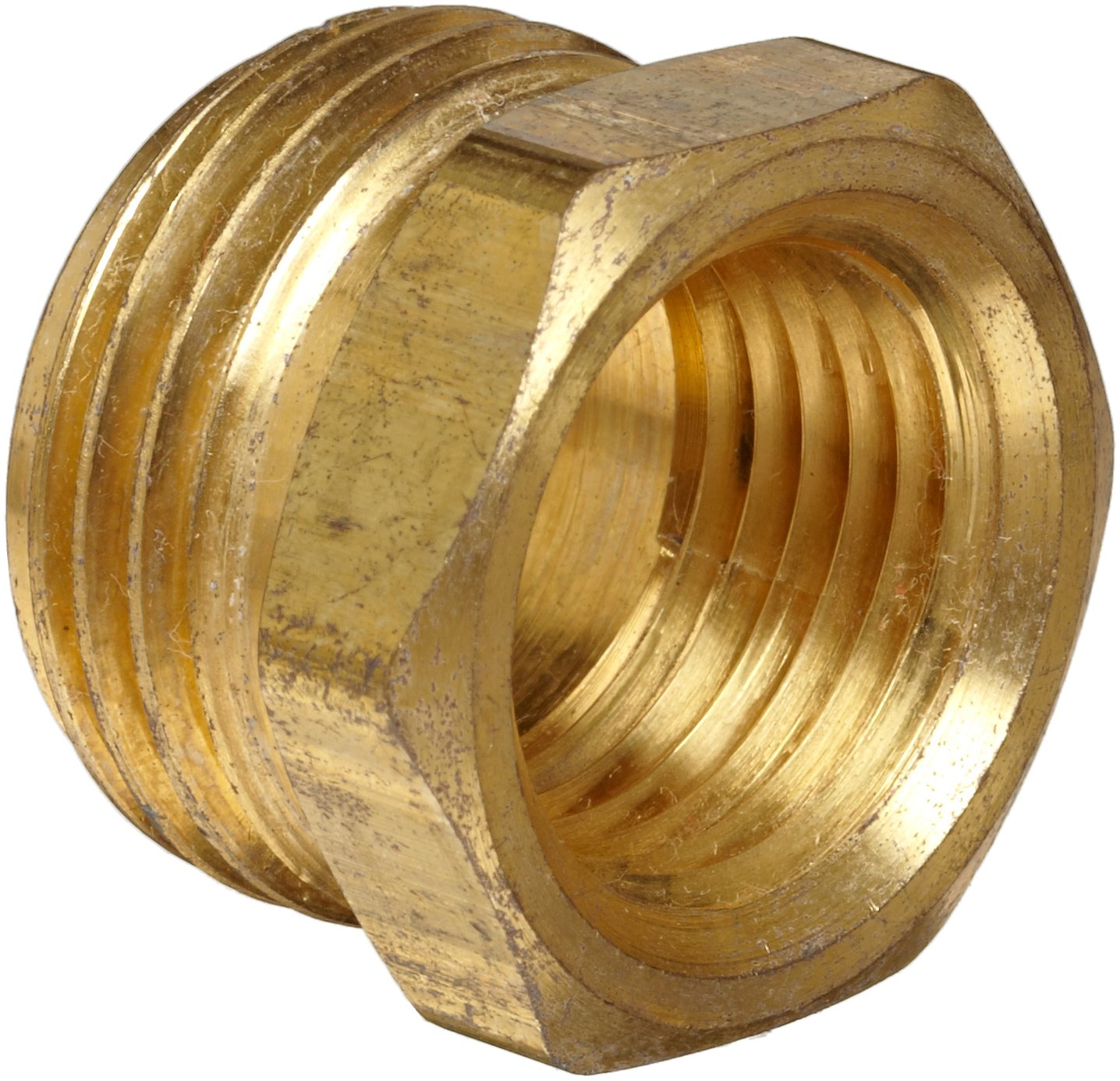 Anderson Metals Brass Garden Hose Fitting Connector 3 4 Male Hose ID x 1 2 Female Pipe