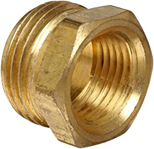 "Anderson Metals Brass Garden Hose Fitting, Connector, 3/4"" Male Hose ID x 1/2"" Female Pipe"