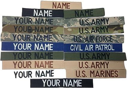 Military Custom Name Tape ACU Multicam OCP Black ABU OD Desert With Fastener